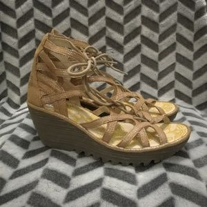 Fly London Yeli Strappy Wedge Sandals